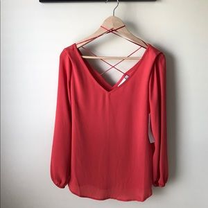 NEW 14th & Union Strappy Neck Blouse • Small